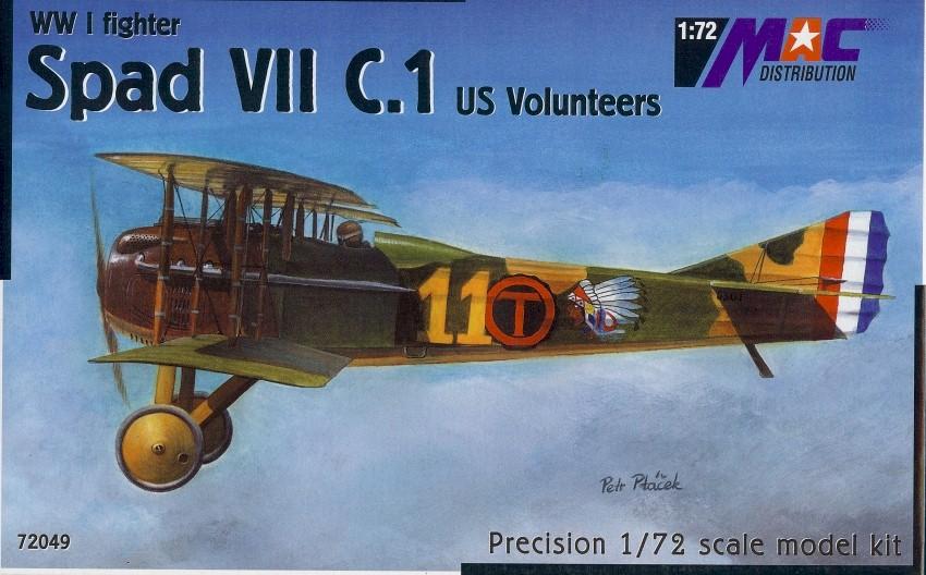 Amercom SL-4 SPAD S.VII fighter aircraft diecast 1:62 model